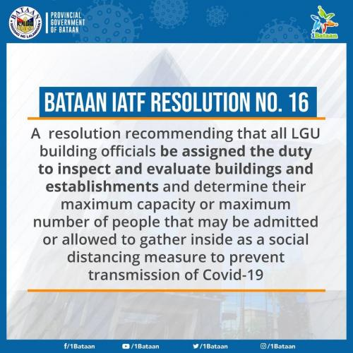 Bataan IATF Resolution No. 16
