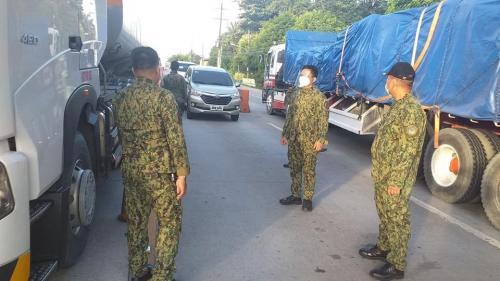 Checkpoint at Balsik, Roman High way Hermosa, Bataan (August 27, 2020)