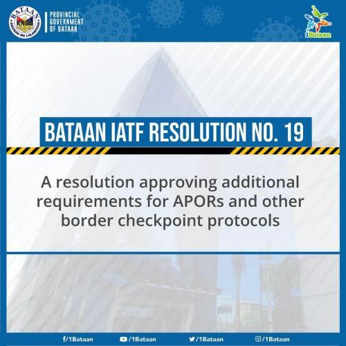 Mahalagang Paunawa: Checkpoints sa Bataan Maghihigpit Simula September 14, 2020