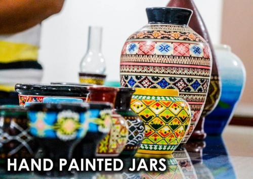 HAND-PAINTED-JARS